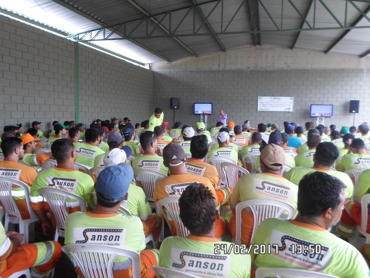 SIPAT - Sanson Pavimento e Obras - Evento Grupo Sanson